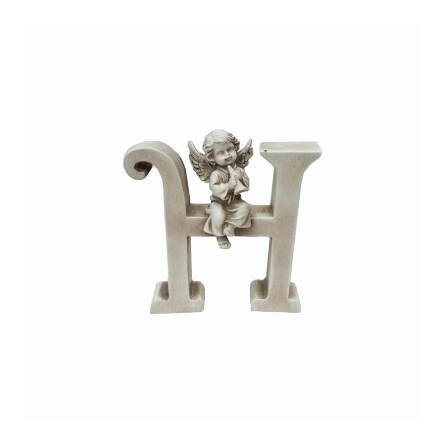 Ozdobna literka z aniołkiem - H - 1