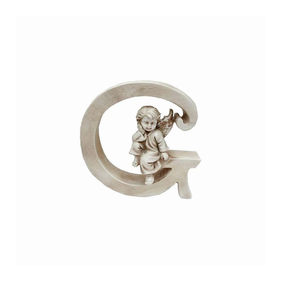 Ozdobna literka z aniołkiem - G