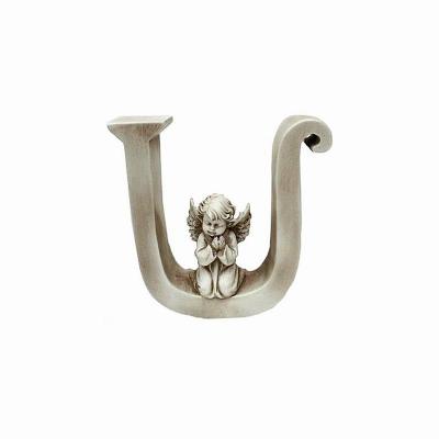 Ozdobna literka z aniołkiem - U