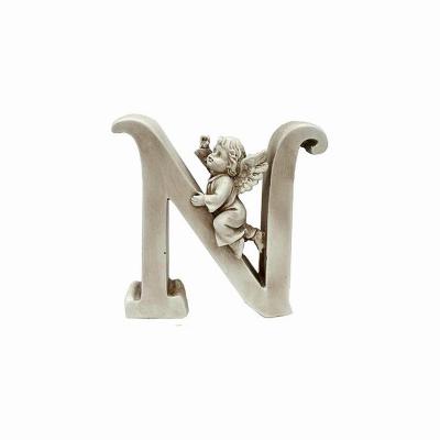 Ozdobna literka z aniołkiem - N