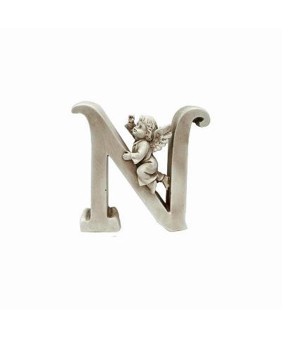Ozdobna literka z aniołkiem - N  - 1