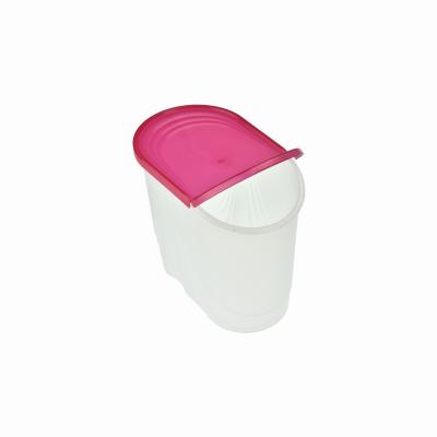 Pojemnik na produkty sypkie WAWE 1,5l czerwony - 3