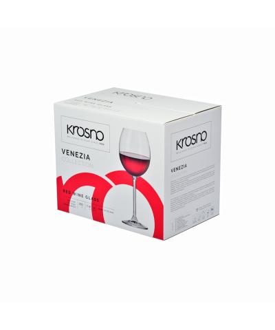 Komplet 6 kieliszków do wina czerwonego VENEZIA KROSNO 350ml Krosno - 3